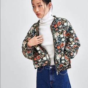 ➡️ final SALE!⬅️ zara floral bomber jacket